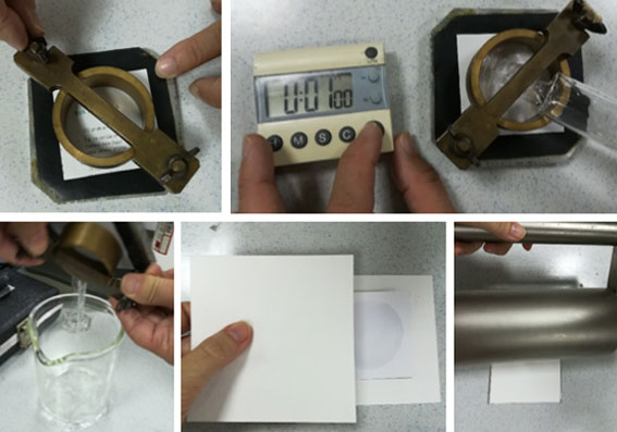 Calcular absorción de un papel